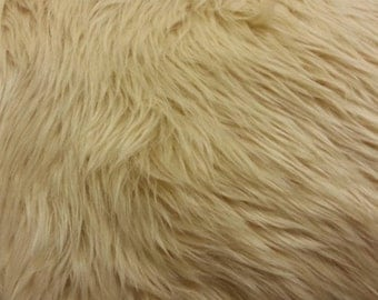 Light Camel Luxury Faux Fur Shag