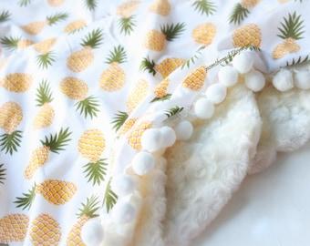Pineapple Blanket Etsy