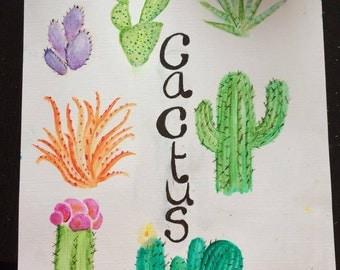 "Acrylic Painting "" Cactus"""