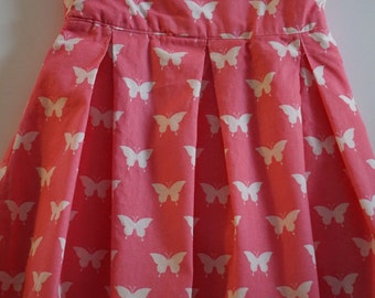 3T Pink Butterfly Dress or Jumper - SIZE 3T