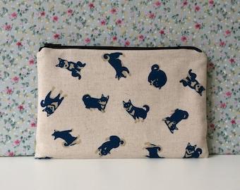 Shiba Inu Print Make Up Bag