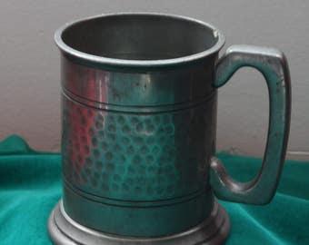 Sheffield Pewter Mug/Tankard with Glass Bottom