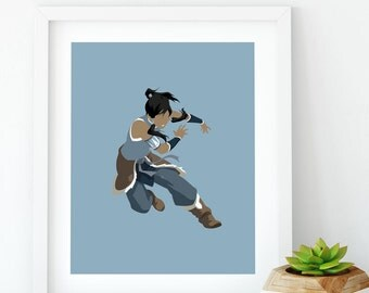 Korra (The Legend of Korra), Minimalist Art, Korra Minimalist, The Legend of Korra Printable