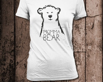 Momma Bear | Women's tee | Perfect for Birthdays, Mother's Day or Christmas