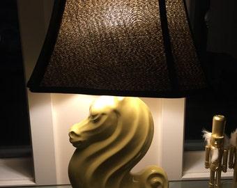 Vintage Hollywood Regency Style Horse Lamp