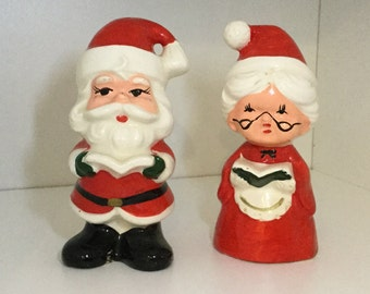 Lefton salt and pepper shakers santa and mrs clause