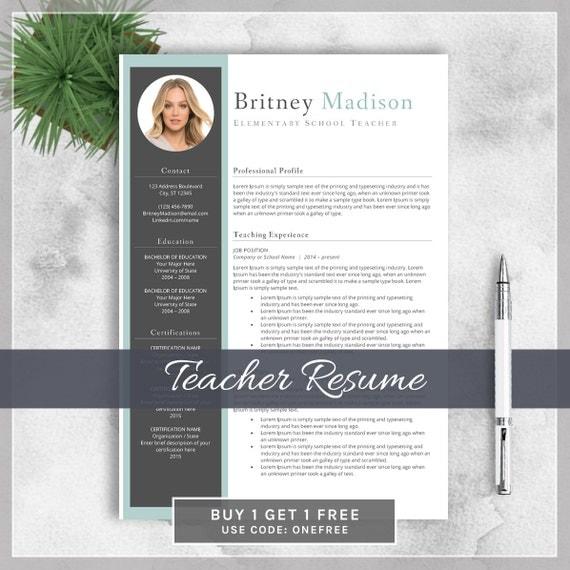 teacher resume template cv template for ms word creative
