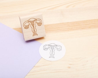 Uterus Rubber Stamp