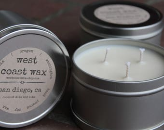 san diego, ca (coconut milk and lime) soy wax candle, 16 oz