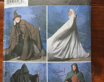 Simplicity 9887 Men And Women's Cloaks Sewing Pattern