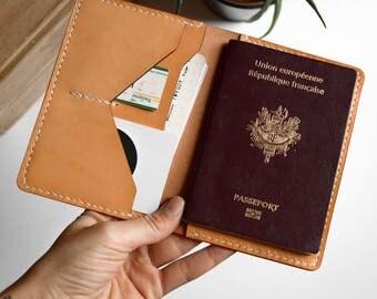 Passport Holder, ALMOND | Passport cover | Passport case