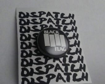 Black Flag Punk Band Button
