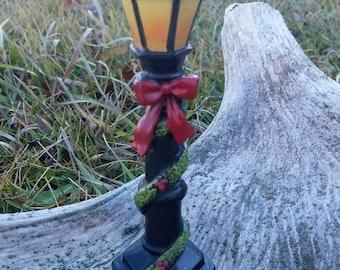 Miniature Lamp Post Winter Theme