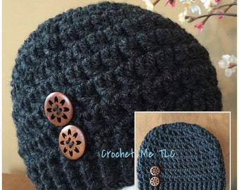 Warm Hugs Toque with Decorative Buttons