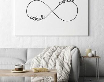 Inhale Exhale, Wall Art Prints, Inhale Exhale Print, Wall Printables, Inhale Exhale Repeat, Yoga Wall Art, Inhale Exhale Art