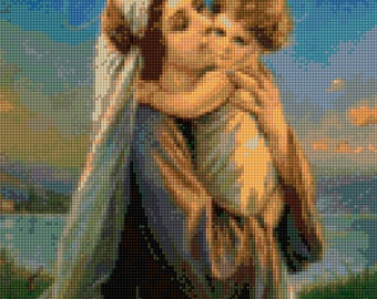 Vintage Madonna and Child Cross Stitch pattern PDF - Instant Download!