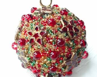 Jewelry Ornament, Jeweled Orb, Jewelry Sphere, Christmas Bulb, Jeweled Globe, Handmade OOAK, Art Collectible, Costume Jewelry Art
