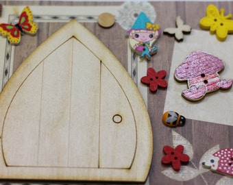 Fairy Door Kit, Elf Door Kit, Pixie Door Kit, Design Your Own Fairy Door, Wooden Fairy Door Set, Fairy Door Gift, Fairy Door Birthday Gift