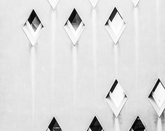 Diamond Windows - Abstract Photography - Barcelona - Wall Art - Fine Art Photography - Minimalist - Wall Art - Diamonds - 0074