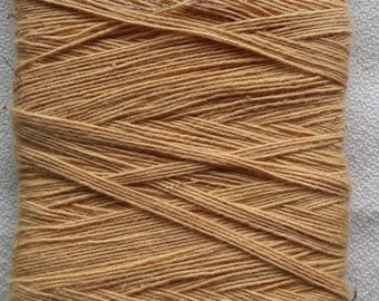 Vintage Needle-Me-Knot Candle Wick Yarn 100% Cotton 30 Yds 3 Ply Color Gold