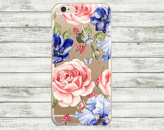 SALE iPhone 7 plus case Clear floral  iPhone 7 Case. iPhone 6s /6s Plus Case. iPhone 5s / SE / 5 Case. Hard plastic or rubber iPhone case.