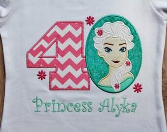 Frozen Fever birthday shirt, frozen fever birthday outfit, elsa frozen fever shirt, frozen birthday outfit, frozen fever birthday party,