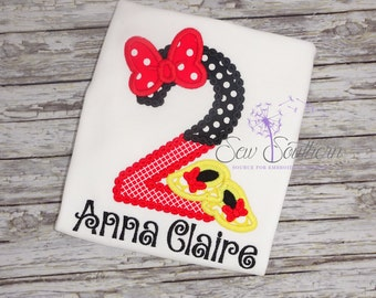 Personalized Minnie Mouse 2nd Birthday Shirt