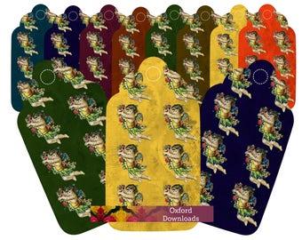Victorian Cherub Printable Gift Tags, Digital Download, Victorian Art, Printable Crafts, Scrapbook Decoupage, Ephemera Sheets, Clip Art,