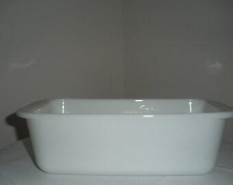 Pyrex Loaf Pan Milk Glass White
