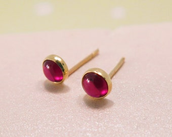 Garnet Earrings, January Birthstone, 14k Gold Garnet Earrings, Garnet Studs, Garnet Stud Earrings, Gold Studs, Garnet Jewelry, Brithstone