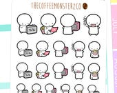 T.V. Addict - emoti planner stickers E025