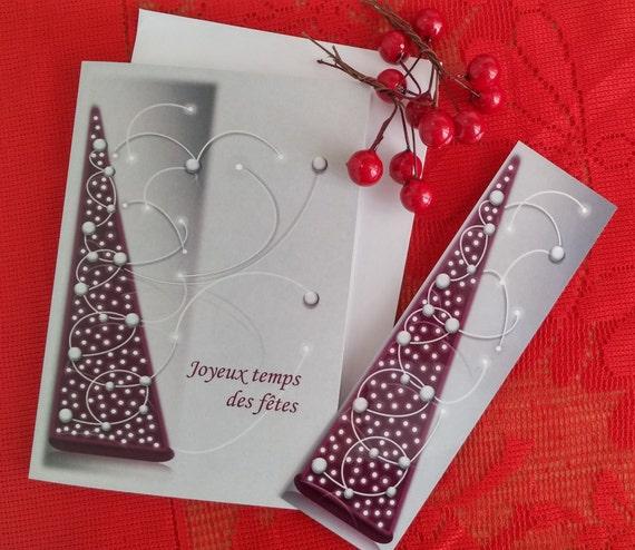 Carte de Noël/Carte de voeux/Sapin bourgogne/Formes géométriques/Triangles énergétiques/Cadeau de Noël/Signet de Noël/Fêtes - CNO-GMTX-0001