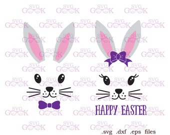Easter Bunny SVG Face Svg Girl