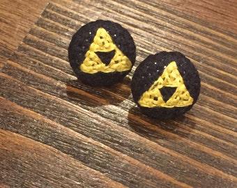 Triforce Cross Stitch Earrings