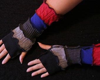 MARCELINE - ADVENTURE TIME - Vampire Queen - Fingerless Gloves - Arm Warmers - Writing Gloves - One Of A Kind Gift