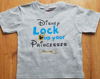 Lock Up Your Princesses Bodysuit. Disney Inspired Boy's Clothing. Disney Vacation Outfit. Todder Tee.