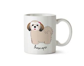 Lhasa Apso Mug (girl)