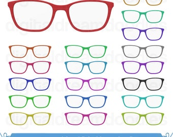 Glasses Clipart, Glasses Clip Art, Eye Glasses Image, Eyewear Graphic, Cat Glasses Frame, Clip Art Glasses, PNG Spectacles, Digital Download