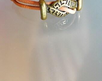 Celtic bracelet men women leather wrap bracelet everyday bracelet adjustable wrap bracelet simple mens bracelet women hippie size S M L XL