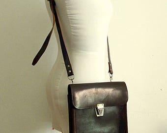 Soviet army bag leather messenger bag army bag vintage crossbody brown leather bag men architects briefcase soviet vintage 1978 USSR