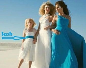 Sash For Convertible Dress , bridesmaid Sash, bridal sash, wedding belt sash wedding sash, Sash for infinity dress, wed, bridal accessories