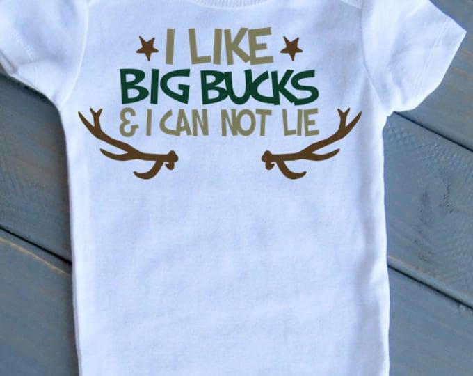 I like Big Bucks & I Cannot Lie Bodysuit, Baby Boy One Piece, Cute Baby Clothing