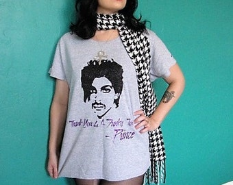 Prince Thank U 4 A Funky Time T-shirt  Made to Order Darling Nikki Purple Rain
