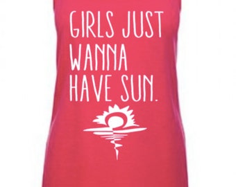 Girls Just Wanna Have Fun Embroidery Design