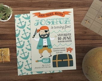 Birthday Invitation | Pirate | Pirate Invite | Pirate Party | Birthday Invitation | Kids Birthday | Kids Invitation | Printable | Custom