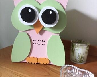 Owl jewelry box-baby shower gift, baby jewelry box, girls jewelry box