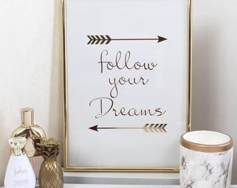 Gold 'Follow Your Dreams' Frame