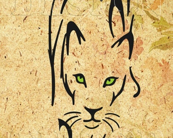 Panther SVG, dxf, png, eps, Silhouette Studio, Cricut, wild animals, wildcat svg, tattoo design, t shirt  design, wall art, scroll  saw