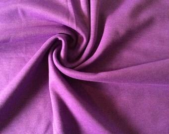 Purple Jersey Fabric - Stretch Knit Fabric - Wool Fabric - Dressmaking Fabric - Craft Fabric