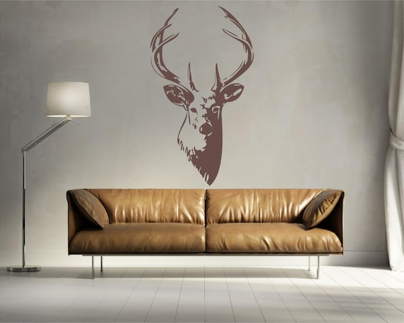 Buck Head Vinyl Wall Art Decal